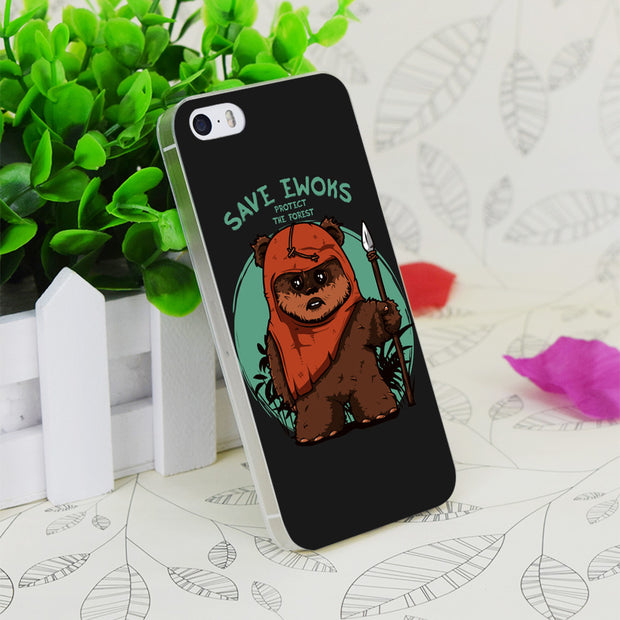 C1312 Save Ewoks Transparent Hard Thin Case Skin Cover For Apple IPhone 4 4S 4G 5 5G 5S SE 5C 6 6S Plus