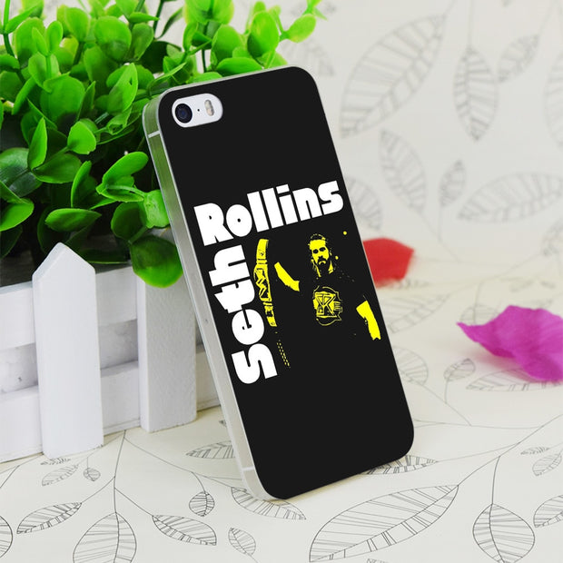 C1367 Seth Rollins Transparent Hard Thin Case Skin Cover For Apple IPhone 4 4S 4G 5 5G 5S SE 5C 6 6S Plus