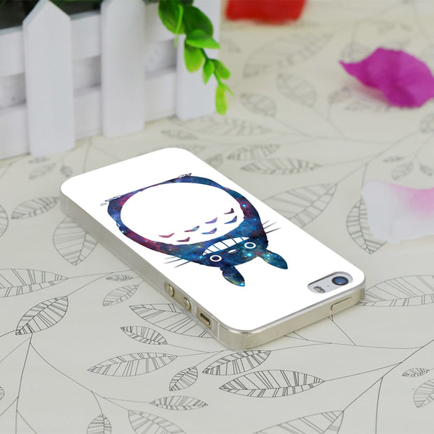 C1530 Space Totoro Transparent Hard Thin Case Skin Cover For Apple IPhone 4 4S 4G 5 5G 5S SE 5C 6 6S Plus