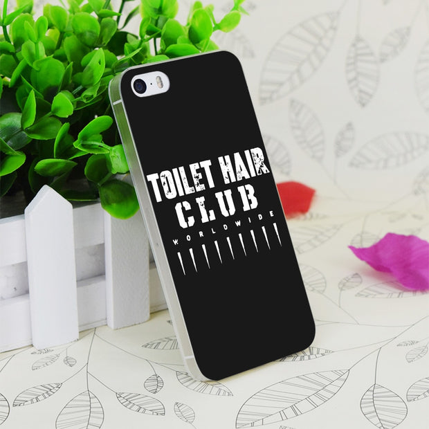 C1780 Team Toilet Hair World Wide Transparent Hard Thin Case Skin Cover For Apple IPhone 4 4S 4G 5 5G 5S SE 5C 6 6S Plus