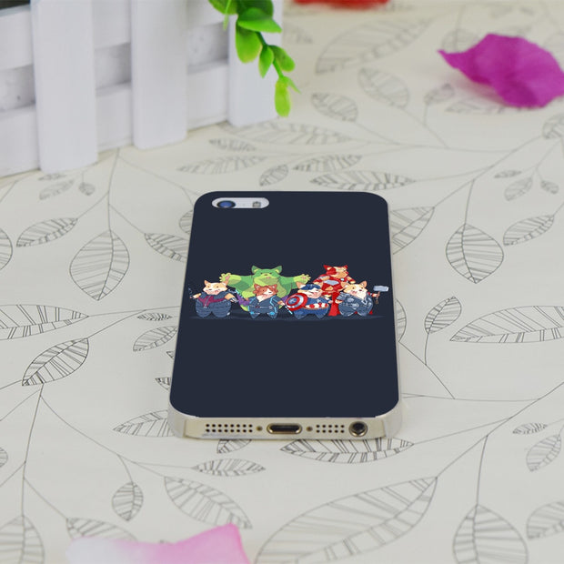 C1846 The Corgi Avengers Transparent Hard Thin Case Skin Cover For Apple IPhone 4 4S 4G 5 5G 5S SE 5C 6 6S Plus