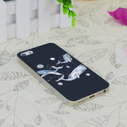C2333 Whales And Stars Transparent Hard Thin Case Skin Cover For Apple IPhone 4 4S 4G 5 5G 5S SE 5C 6 6S Plus