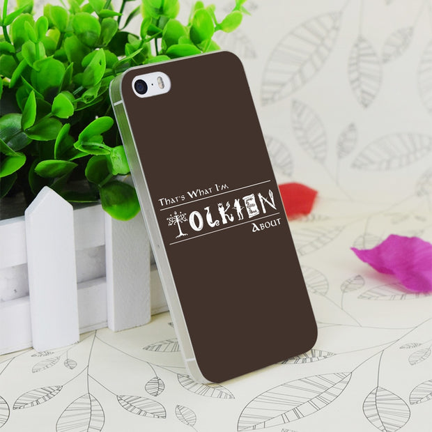 C2342 What I'm Tolkien About Transparent Hard Thin Case Skin Cover For Apple IPhone 4 4S 4G 5 5G 5S SE 5C 6 6S Plus