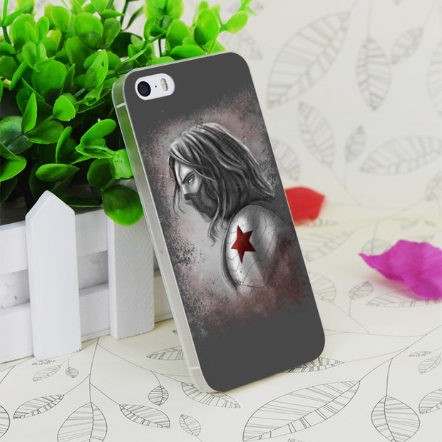 C2386 Winter Soldier Transparent Hard Thin Case Skin Cover For Apple IPhone 4 4S 4G 5 5G 5S SE 5C 6 6S Plus