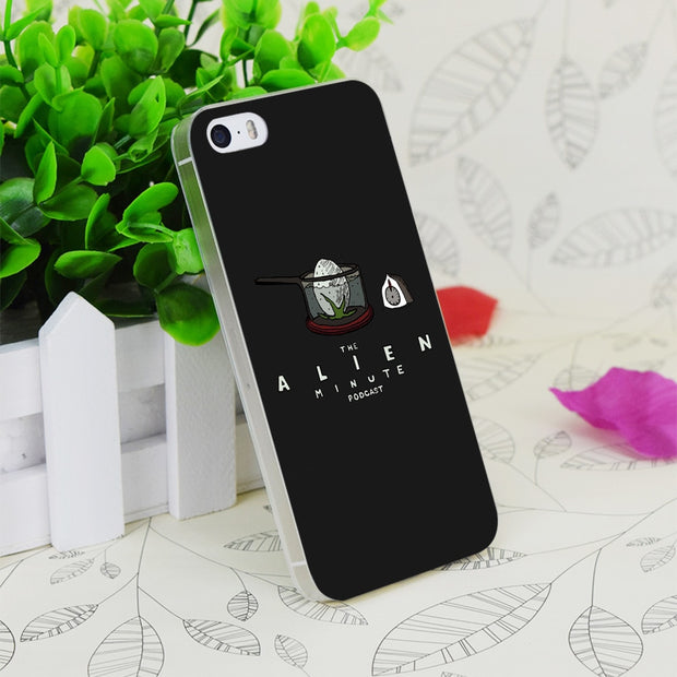 C2578 Alien Minute Logo Tee Transparent Hard Thin Case Skin Cover For Apple IPhone 4 4S 4G 5 5G 5S SE 5C 6 6S Plus
