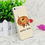 C2803 Beagle Bagel Transparent Hard Thin Case Skin Cover For Apple IPhone 4 4S 4G 5 5G 5S SE 5C 6 6S Plus