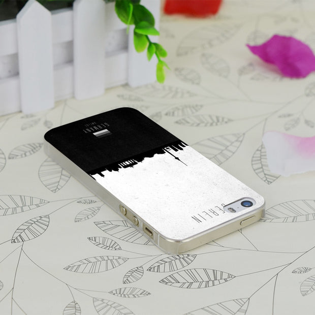 C2839 Berlin Contemporary Transparent Hard Thin Case Skin Cover For Apple IPhone 4 4S 4G 5 5G 5S SE 5C 6 6S Plus