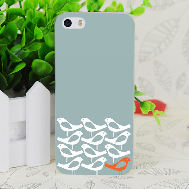 C2887 Birds Be Different Transparent Hard Thin Case Skin Cover For Apple IPhone 4 4S 4G 5 5G 5S SE 5C 6 6S Plus