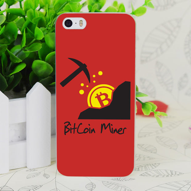 C2896 Bitcoin Miner Transparent Hard Thin Case Skin Cover For Apple IPhone 4 4S 4G 5 5G 5S SE 5C 6 6S Plus