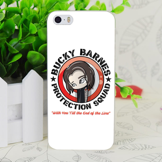 C3009 Bucky Barnes Transparent Hard Thin Case Skin Cover For Apple IPhone 4 4S 4G 5 5G 5S SE 5C 6 6S Plus