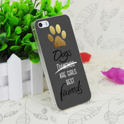 C3499 Dogs Are Girls Best Friends Transparent Hard Thin Case Skin Cover For Apple IPhone 4 4S 4G 5 5G 5S SE 5C 6 6S Plus