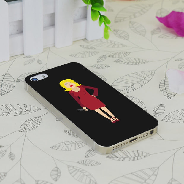 C3663 Exy Blonde Hairdresser Transparent Hard Thin Case Skin Cover For Apple IPhone 4 4S 4G 5 5G 5S SE 5C 6 6S Plus