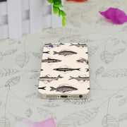 C3767 Fishes In Geometrics Transparent Hard Thin Case Skin Cover For Apple IPhone 4 4S 4G 5 5G 5S SE 5C 6 6S Plus