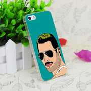 C3860 Freddie Mercury Transparent Hard Thin Case Skin Cover For Apple IPhone 4 4S 4G 5 5G 5S SE 5C 6 6S Plus