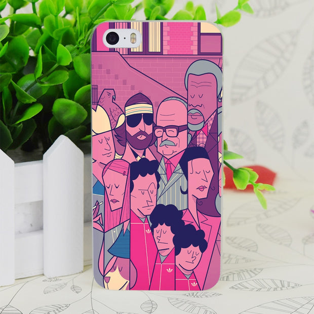 C4055 Grand Budapest Hotel Transparent Hard Thin Case Skin Cover For Apple IPhone 4 4S 4G 5 5G 5S SE 5C 6 6S Plus