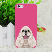 C4154 Harper Cocker Spaniel Transparent Hard Thin Case Skin Cover For Apple IPhone 4 4S 4G 5 5G 5S SE 5C 6 6S Plus