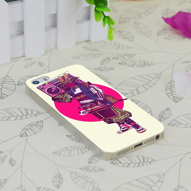 C4235 Hip Hop Samurai Style Transparent Hard Thin Case Skin Cover For Apple IPhone 4 4S 4G 5 5G 5S SE 5C 6 6S Plus