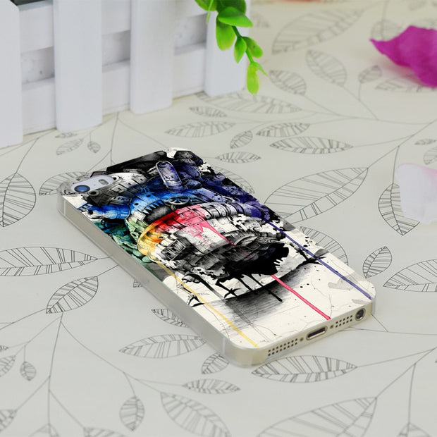 C4292 Howl S Moving Castle Transparent Hard Thin Case Skin Cover For Apple IPhone 4 4S 4G 5 5G 5S SE 5C 6 6S Plus