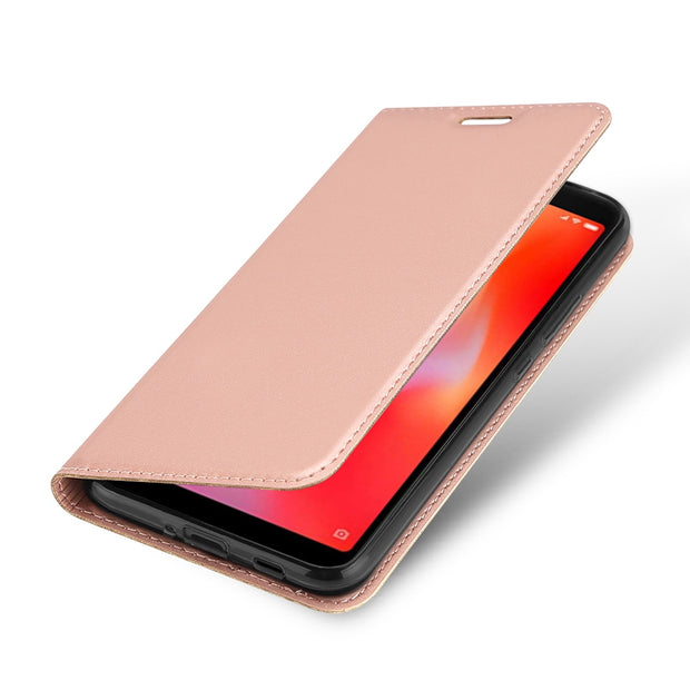 CASEWIN Mobile Phone Cases For Xiaomi Redmi 6A Case Luxury Leather Flip Case With Card Pocket For Xiaomi Redmi 6A Phone Cover