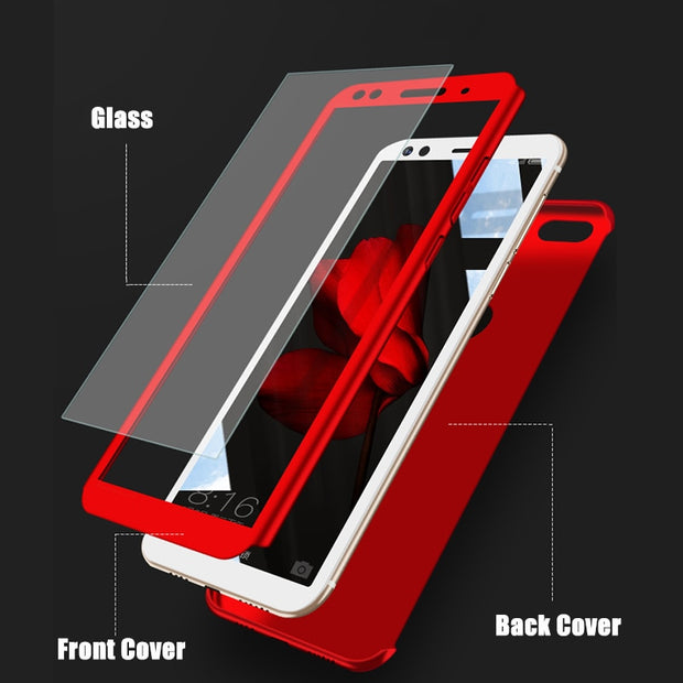 COQUEN Full Case Funda For Xiaomi Redmi Note 5 5A 360 Degree Protect Phone Case For Xiaomi Redmi Note 5 Plus 6A 6 Pro S2 Case On
