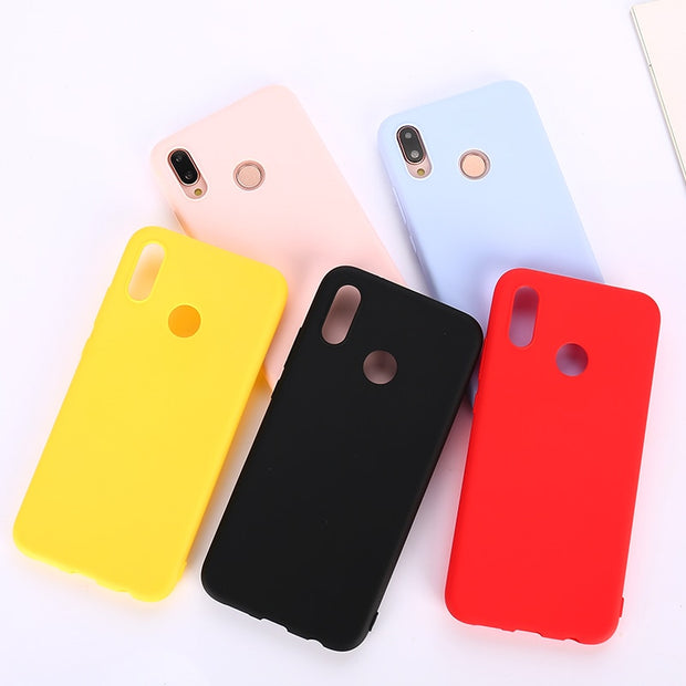 sports shoes eead3 291ac Candy Color Soft Silicone Case On For Huawei P Smart Plus Y9 2019 ...