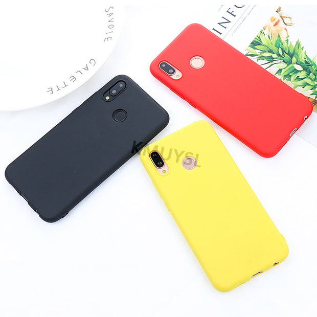 Candy Color Soft Silicon Case For Huawei P30 Pro P20 P9 P10 P8 Mate 20 Lite Honor 10 9 Lite 7C 7A Pro 8X 8C P Smart 2019 Cases