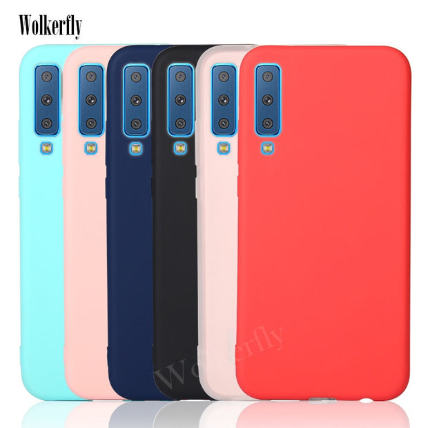 Candy TPU Case On For Samsung Galaxy J3 J4 J6 2018 A6 A8 Plus A7 2018 A750 S8 S9 Plus A3 A5 J5 J7 2017 Note 9 Slim Full Cover