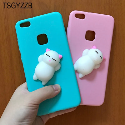 Candy TPU Cover For Huawei Honor 8 Lite P9/P8 Lite 2017 Cute Soft Silicone 3D Squishy Cat Fundas Phone Case For Huawei P10 Lite