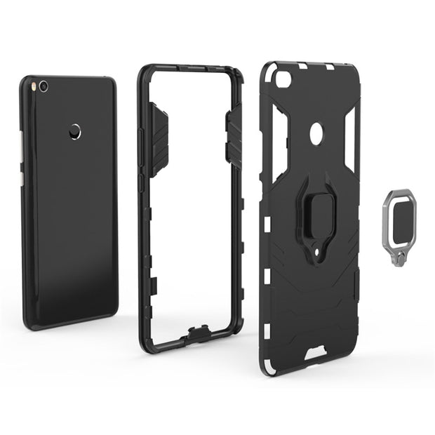 Capas For Xiaomi Mi Max 2 Bracket Finger Ring Armor Shockproof Hybrid Stand Cover Case For Xiaomi Mi Max 2 Max2 Coque Fundas