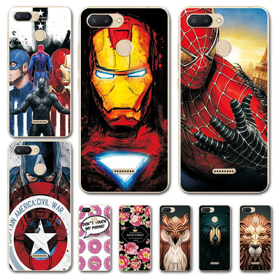 Captain America Back Cover For Xaomi Redmi 6 Case Redmi 6 Pro Novelty Superhero Silicone Phone Case Bumper For Xiomi Redmi 6a