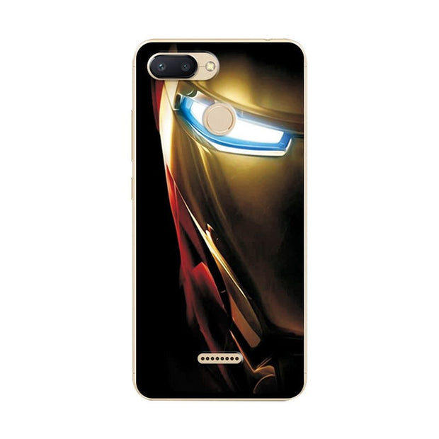 Phone Bags & Cases Fitted Cases Novelty Avengers Painted Phone Bag For Xiaomi Redmi 6 Case Redmi 6a Iron Man Silicone Back Cover Bumper For Xiomi Redmi 6 Pro