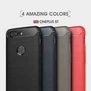 Carbon Fiber Phone Case For Oneplus 5T Anti-knock TPU Soft Phone Case Full Coverage For OnePlus 5T Back Cover