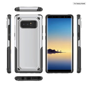 Carbon Fiber Shockproof Hybrid Armor Case Dual Layer Flexible Soft TPU Rubber & PC Hard Defender Cover For Samsung Galaxy Note 8