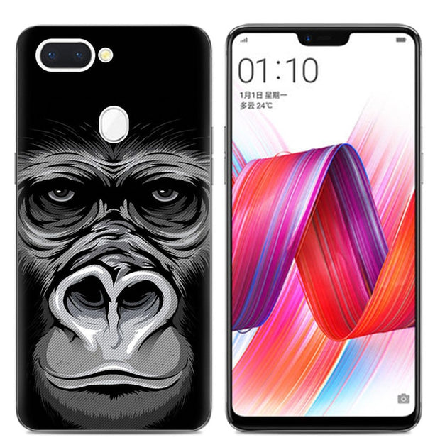 Cartoon Animal Gorilla Pattern Phone Cases For OPPO R15 Pro Case Flyman Beer Soft TPU Cover Coque For OPPO R15 Pro Fundas Capa