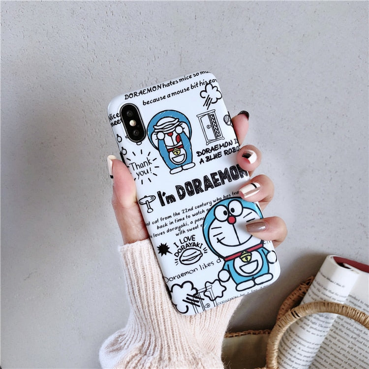 online store e3e39 d7975 Cartoon Cute Blue Fat Cats Phone Case For Iphone XS Max Case For Iphone X  XR 8 7 6 Plus Cover Fashion Soft IMD Cases Capa