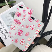 Cartoon Cute Donut For IPhone 6 6s 7 8 PLUS Protective Case For IPhone X Ice Cream Fresh Mobile Shell Capa Coque
