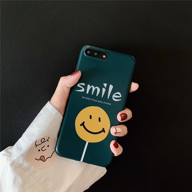 Cartoon Cute Smile Lollipop Phone Case For Iphone X Xr Xs Max Case