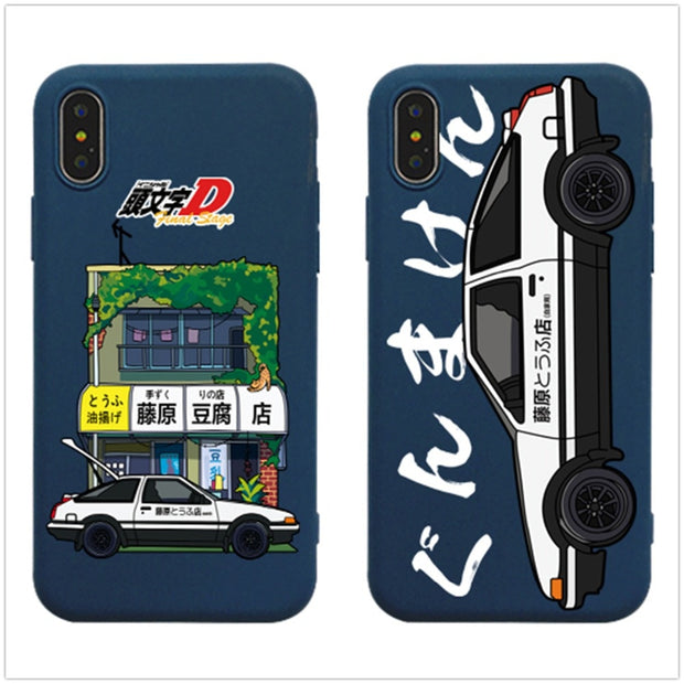 the latest dc85d e1b51 Cartoon Initial D Fujiwara Tofu Shop Soft TPU Case For IPhone XS XR XS MAX  Coloured Drawing Case For IPhone X 6 6S 7 8 Plus Case