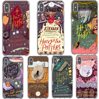 Cartoon Posters Harry Potter Phone Cases For IPhone X XS MAX XR Back Cover Silicone Case For IPhone 7 8 Plus 6 6s Plus 5 5S SE