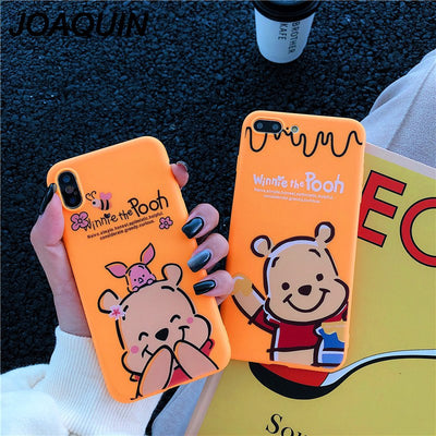 Cartoon Winnie Pooh Bear Phone Cases For IPhone 6 6S 7 8 Plus Case Soft Silicone TPU Back Cover For IPhone XS MAX XR Case Coque
