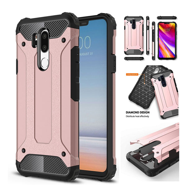 Case For LG K10 K5 K8 K4 K7 Case For LG G5 G6 G7 Silicone Rubber Hard PC Phone Armor Anti-Shock Cases For LG K10 2017 Case Cover