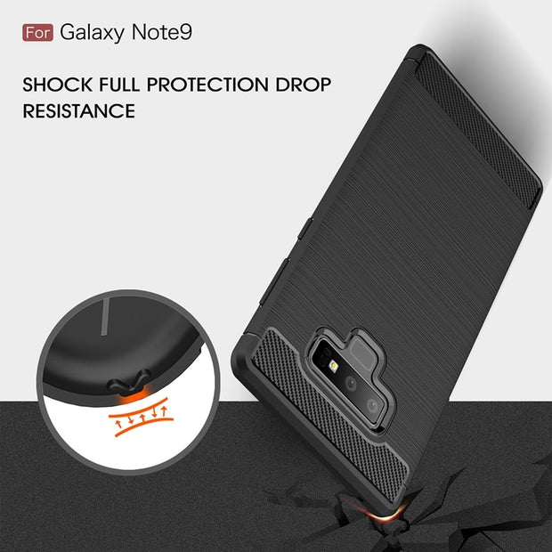 Case For Samsung Note 9 Case Note 9 Luxury Silicone Carbon Fiber Cover For Samsung Galaxy Note 9 Case For Samsung Note 9 Cover