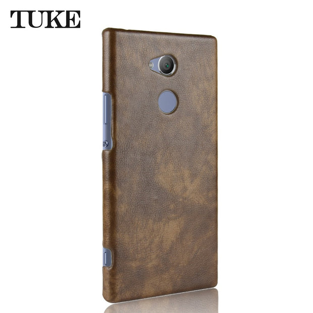 Case For Sony XA2 ULTRA Litchi Pattern Surface PU Leather+PC Hard Back Cover Phone Case For Sony XA 2 ULTRA Cover Protector