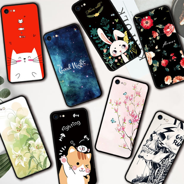 Case For Iphone 7 Cartoon Figure Art Case Cover Silicone Soft Shell Cover For Apple IPhone 7 Bags Funda