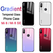 Case Gradient Glass Cover For Xiaomi Mi 8 Cases For Xiaomi Mi 8 Se Tempered Glass Coque Xiomi Mi8 SE 8se Phone Protection Shell
