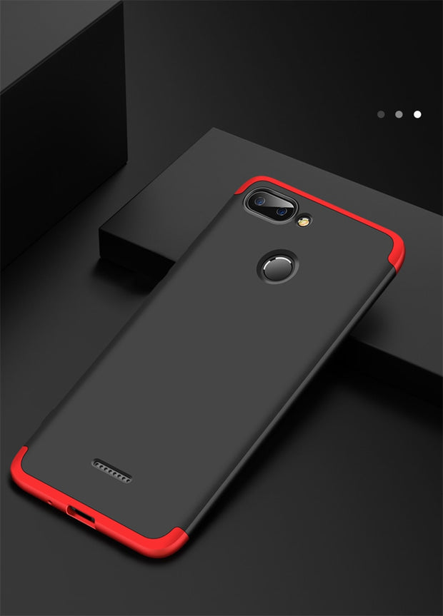 Case For Xiaomi Mi A2 Lite A1 5X 6X Case 360 Full Protection 3 In 1 Hard PC Shockproof Cover For Xiaomi Redmi 6 Pro Case Coque