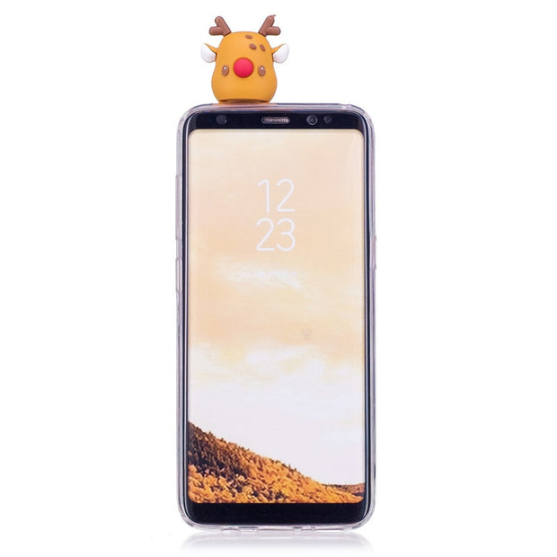 Case On For Samsung Galaxy S8 S9 Plus S7 Edge Cover 3D Cartoon Toys Clear Soft Silicone Phone Case For Samsung Note 8 9 Coque