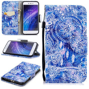 Cases For Redmi 5A New Style Patterned Snow Soft Luxury Retro Silk Leather Flip Wallet Case For Funda Redmi 5a With Cards Slot