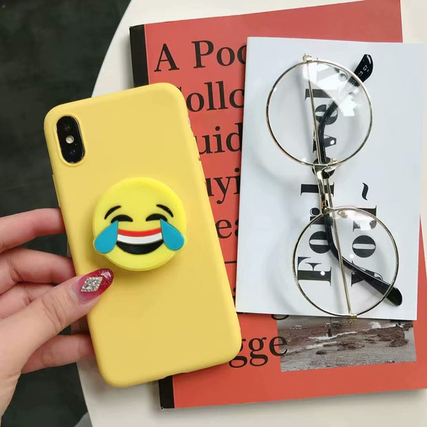 Cell Phone Bracket Stand Finger Holder For LG K10 2017 2018 K8 2018 Cases Soft TPU Phone Cover For OnePlus 6 5 5T Case