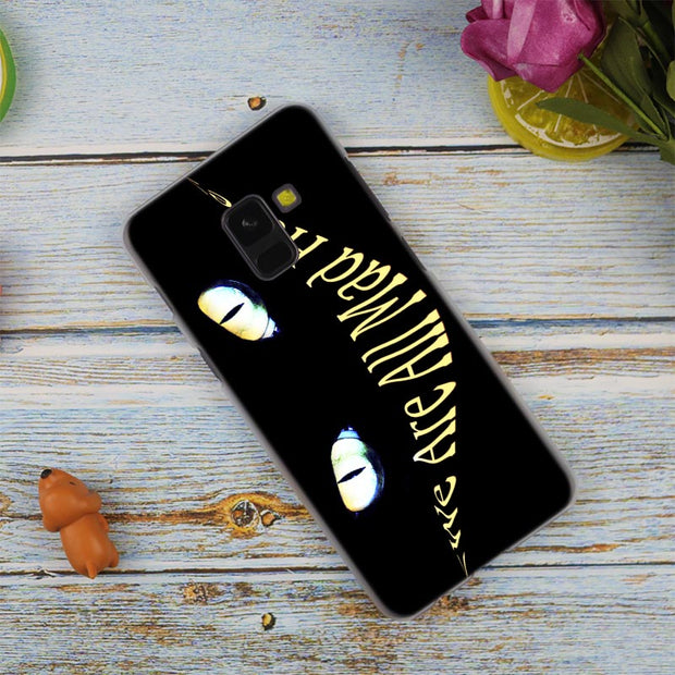 Cheshire Cat Bright Hot Fashion Transparent Case For Samsung Galaxy A3 A5 A9 A7 A6 A8 Plus 2018 2017 2016 Star A6S Note9 8 Cover